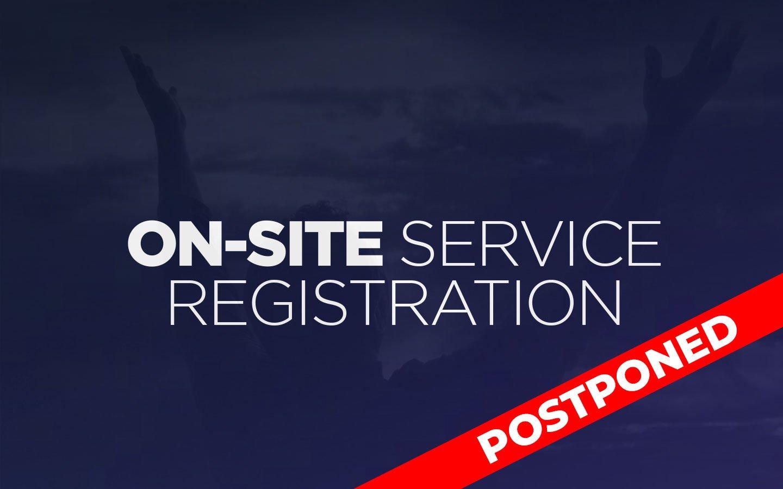 Onsite-service-postponed